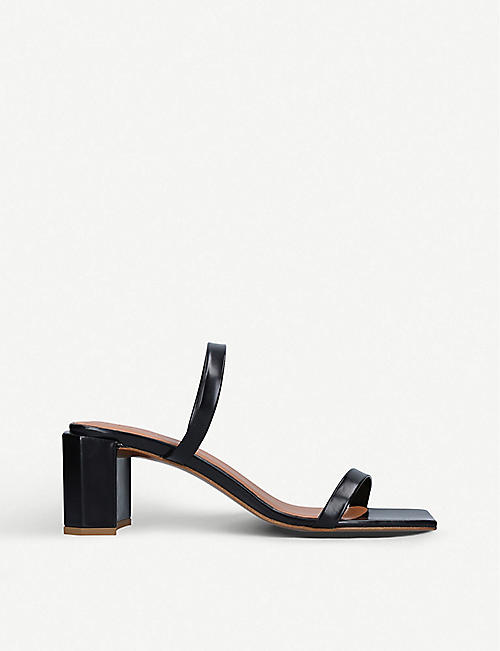 BY FAR: Tanya leather platform sandals