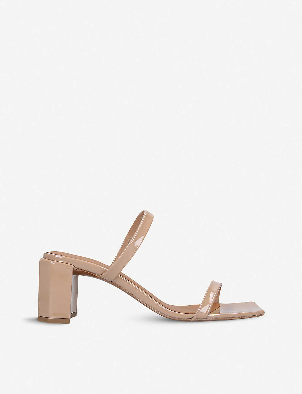 BY FAR: Tanya leather heeled mules