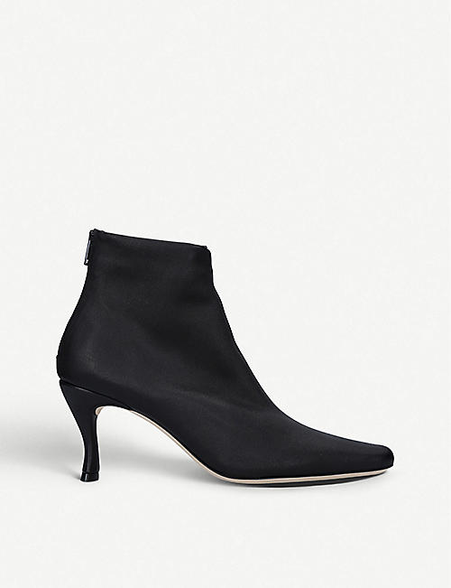 BY FAR: Stevie leather ankle boots