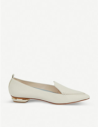 NICHOLAS KIRKWOOD: Beya pointed-toe leather loafers