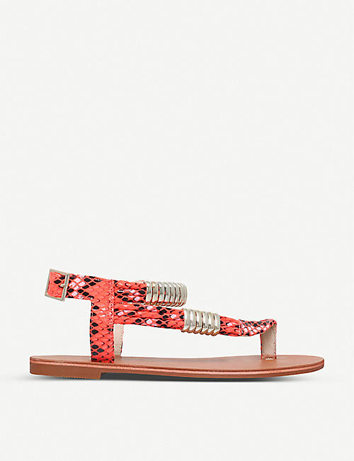 CARVELA: Klipper leather sandals