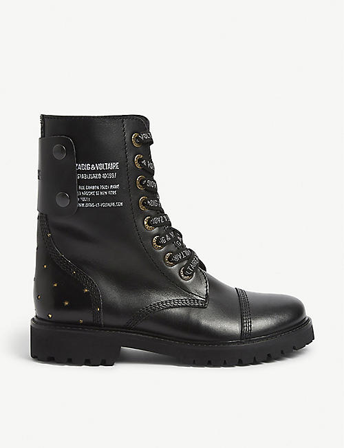 ZADIG&VOLTAIRE Joe stars leather ankle boots