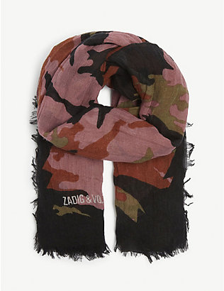 ZADIG&VOLTAIRE: Camouflage-print scarf