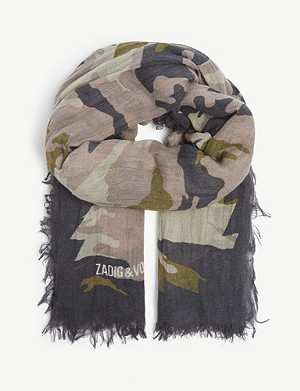ZADIG&VOLTAIRE Camouflage-print scarf