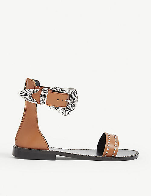 ZADIG&VOLTAIRE: Ever buckle leather sandals