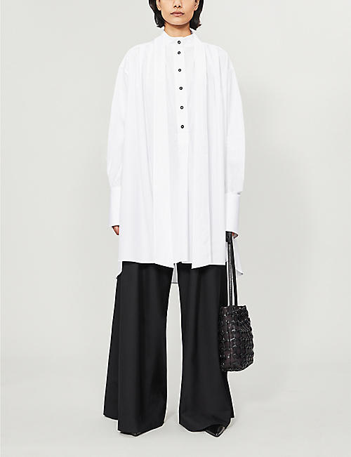 DANIEL POLLITT Oversized cotton-poplin shirt