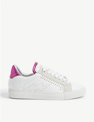 ZADIG&VOLTAIRE: ZV1747 leather trainers