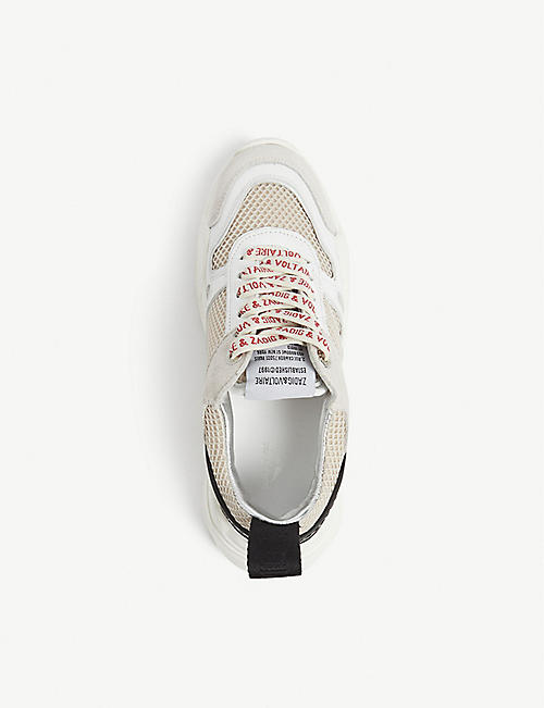 ZADIG&VOLTAIRE Future mesh and leather trainers
