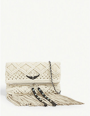 ZADIG&VOLTAIRE: Woven cotton Rock shoulder bag