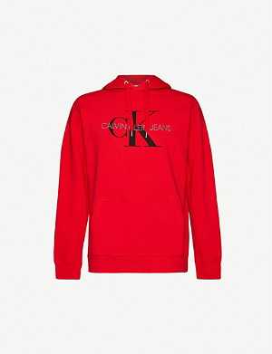 CK JEANS Monogram cotton-jersey sweatshirt