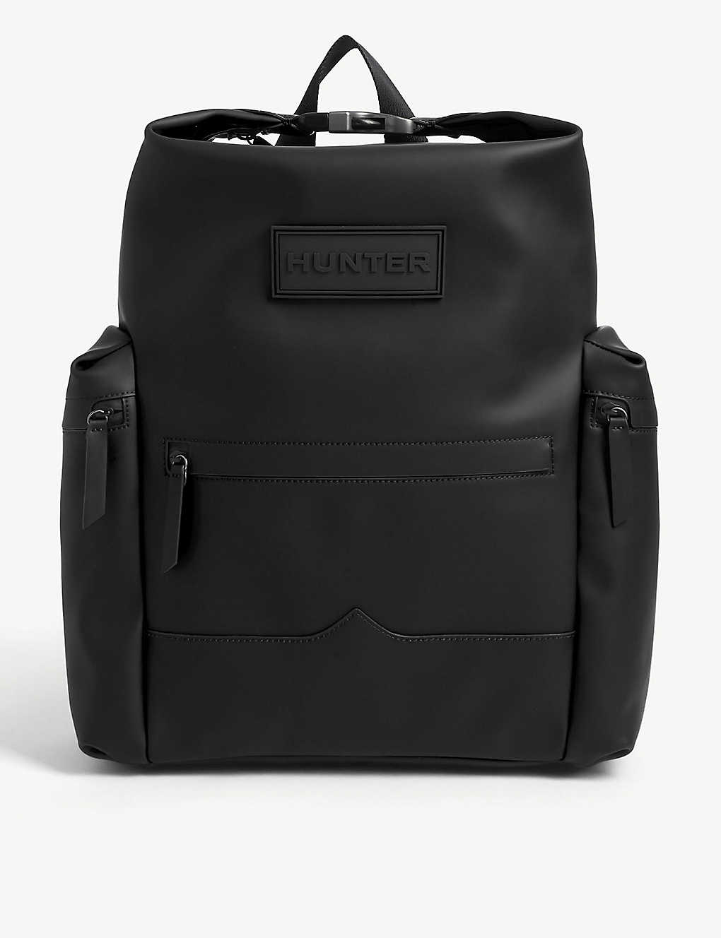 HUNTER: Original Top Clip rubberised leather backpack