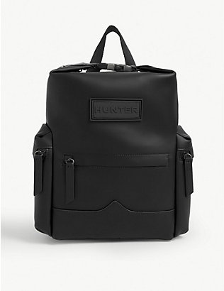 HUNTER: Original Top Clip rubberised mini leather backpack