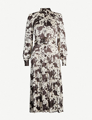 KITRI Tara cow-print crepe midi dress