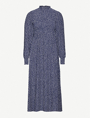 KITRI Molly polka-dot woven midi dress