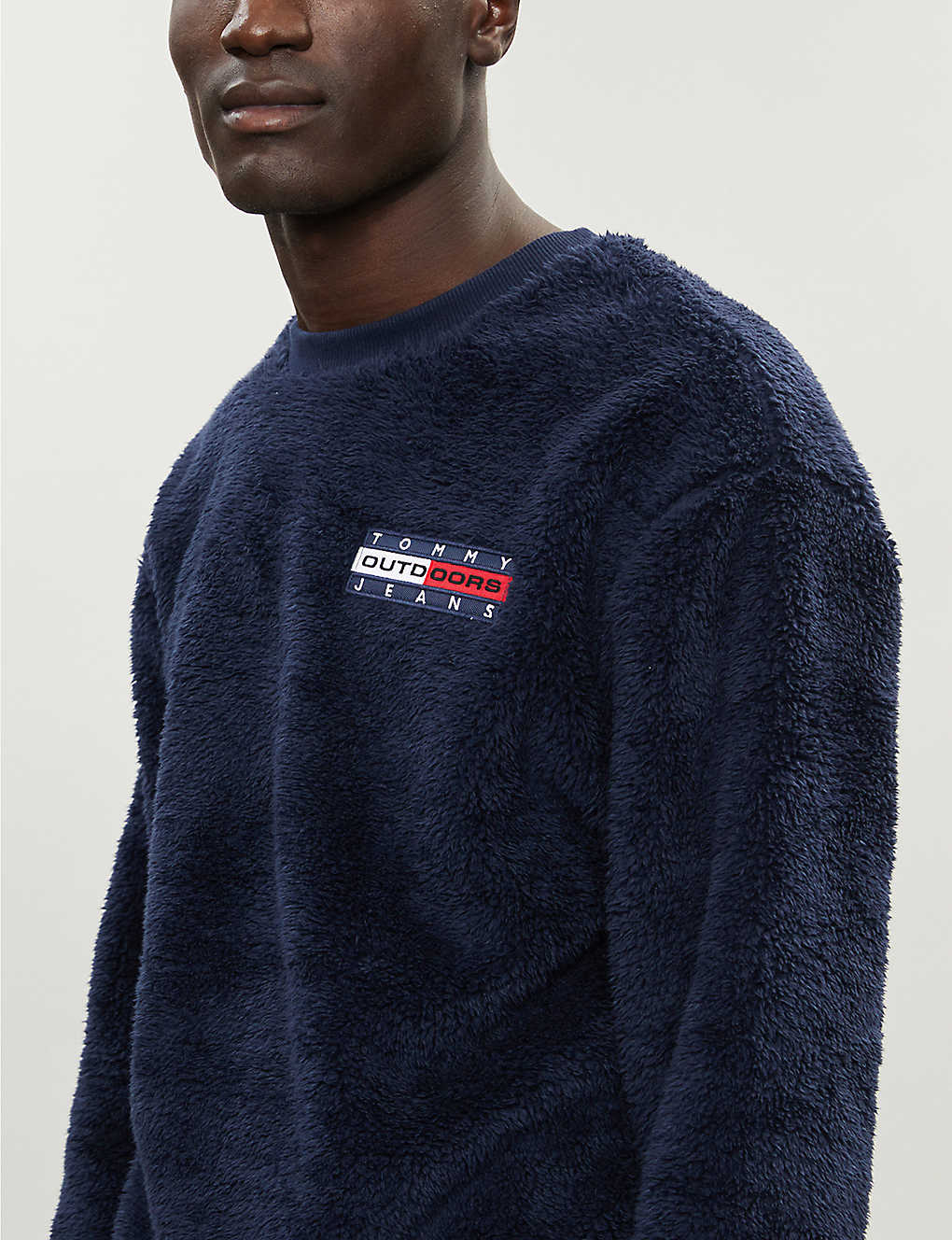 Tommy Jeans Logo Patch Fleece Sweatshirt Selfridges Com