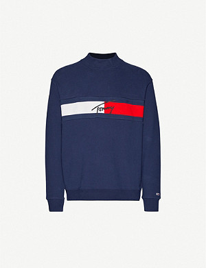 TOMMY JEANS Logo-printed cotton-jersey jumper