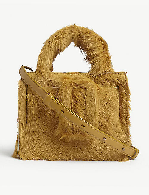 BOYY: Bobby 23 calf hair top handle bag