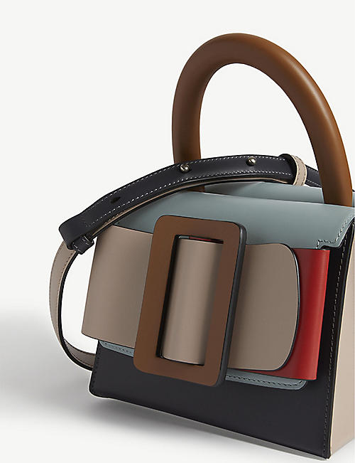 BOYY Lucas colour block leather shoulder bag