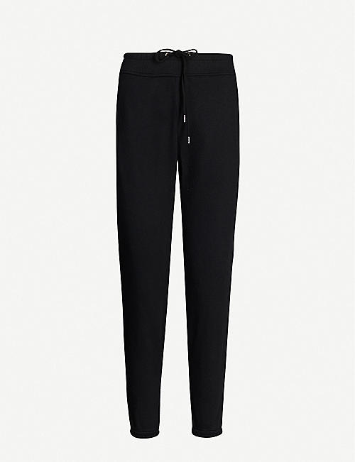 JAMES PERSE Tapered mid-rise cotton jogging bottoms