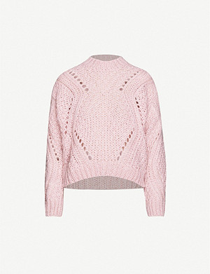 STINE GOYA Alex high-neck mohair-blend jumper