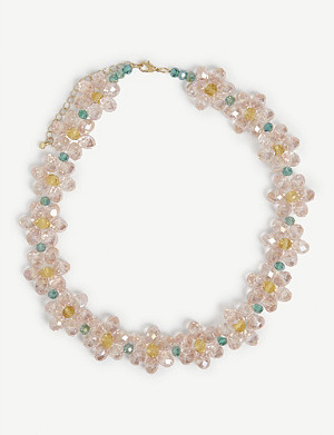 STINE GOYA Illianna floral beaded necklace
