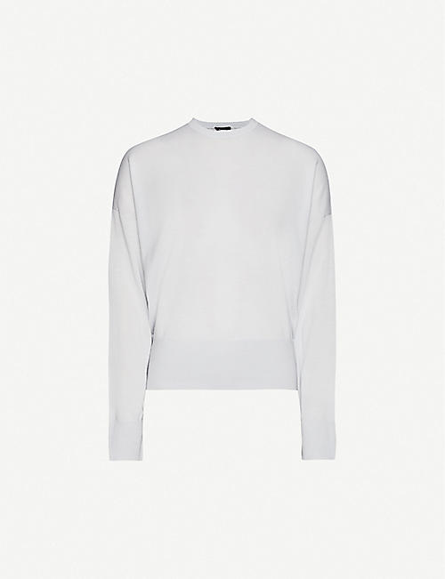 THEORY Round-neck wool jumper