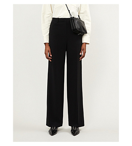 Theory WIDE-LEG MID-RISE CREPE TROUSERS