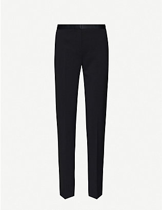 THEORY: Tailor cropped straight woven trousers