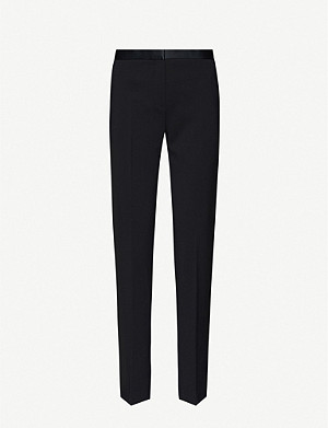 THEORY Tailor cropped straight woven trousers