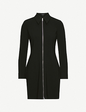 THEORY Zipped crepe mini dress