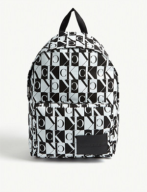 CALVIN KLEIN JEANS Check logo nylon backpack