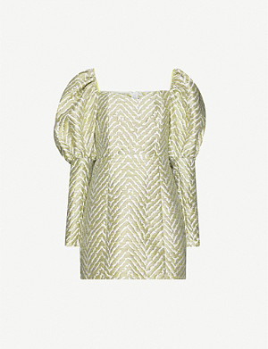 ROTATE BIRGER CHRISTENSEN Oksana jacquard woven mini dress