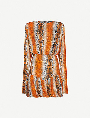 ROTATE BIRGER CHRISTENSEN Alina animal-print stretch-jersey mini dress