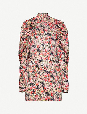 ROTATE BIRGER CHRISTENSEN Kim floral-print satin-crepe mini dress