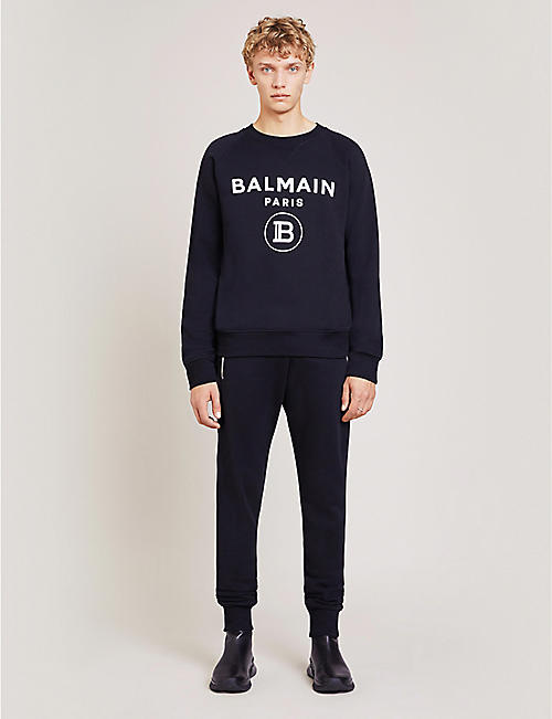 BALMAIN Puma x Balmain slim-fit cotton-blend jogging bottoms