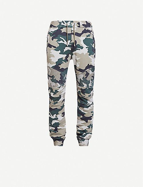 BALMAIN Camouflage-pattern woven jogging bottoms
