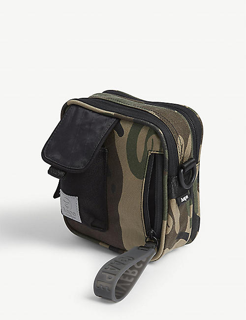AAPE Camouflage nylon crossbody bag