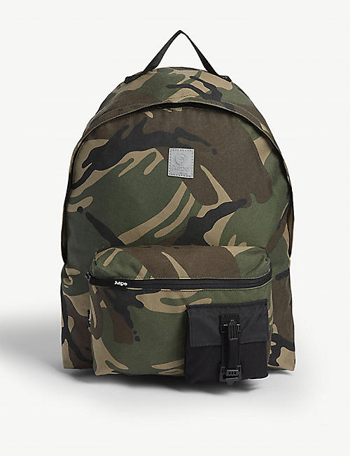 AAPE Camouflage nylon backpack