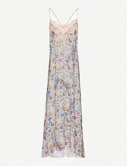 ZADIG&VOLTAIRE: Revel graphic-print woven maxi dress