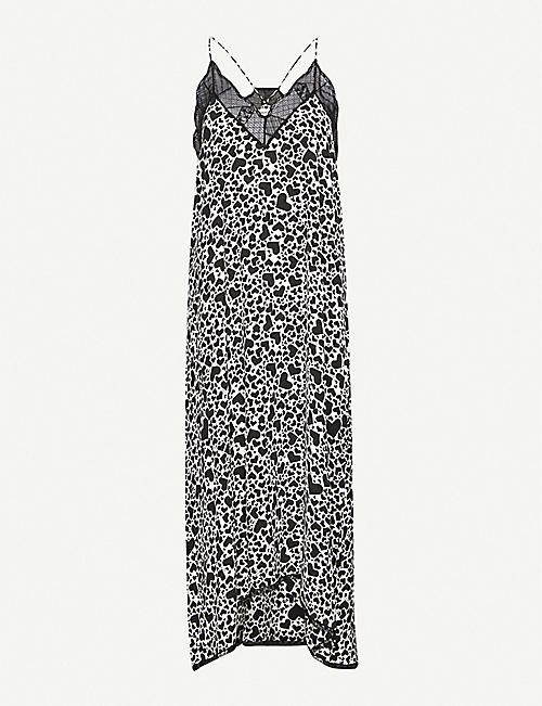 ZADIG&VOLTAIRE Risty heart-print silk-crepe dress