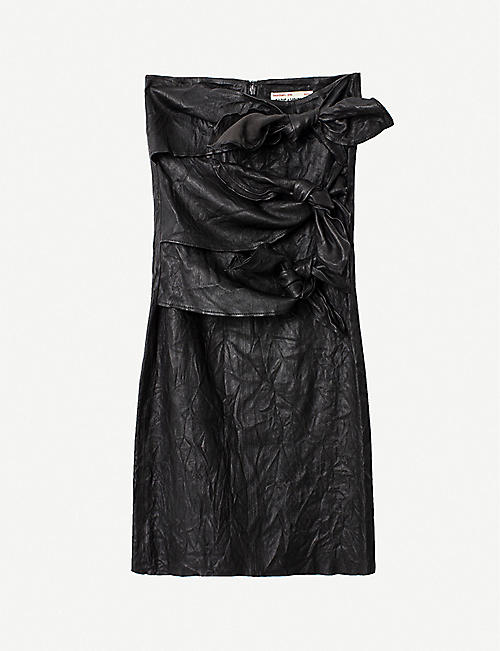 ZADIG&VOLTAIRE: Jadi leather midi skirt