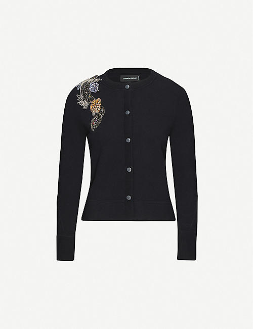 ZADIG&VOLTAIRE Puky embellished cotton-blend cardigan