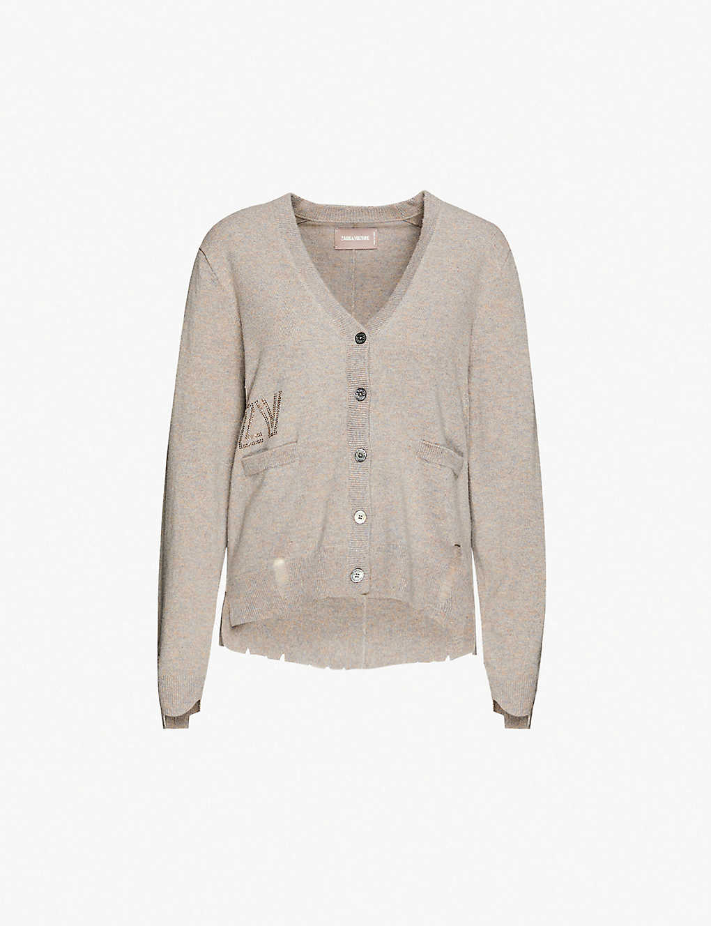 ZADIG&VOLTAIRE: Hopy cashmere distressed cardigan