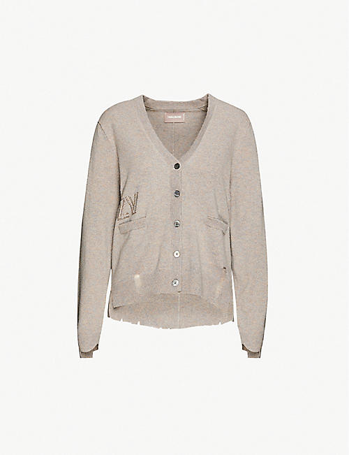 ZADIG&VOLTAIRE Hopy cashmere distressed cardigan