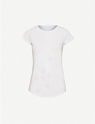 ZADIG&VOLTAIRE: Skinny star-embellished cotton-blend T-shirt