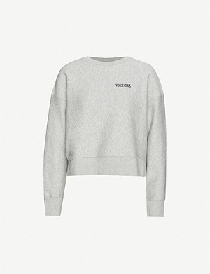 ZADIG&VOLTAIRE Champ logo-embroidered cotton-jersey sweatshirt
