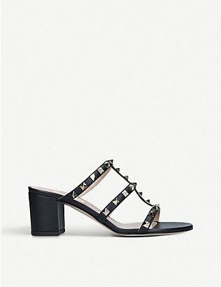 VALENTINO GARAVANI: Rockstud 60 leather heeled mules