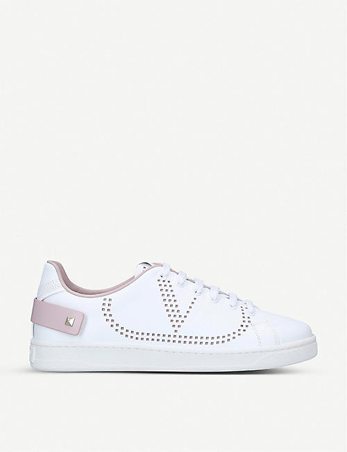 VALENTINO Backnet perforated leather trainers