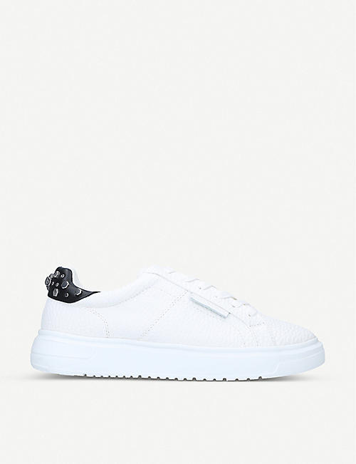 KG KURT GEIGER: Noah studded grained-leather low-top trainers
