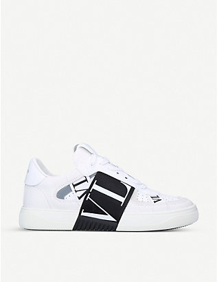 VALENTINO: VL7N logo-embellished leather trainers